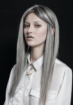 silver gray hair