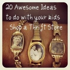 Over 20 CHEAP ideas for your kids from a Thrift Store!