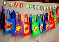 superhero party favor bags later-baby-or-if-i-ever-have-a-grandson Superhero Party Favors, Superhero Birthday Party, 4th Birthday Parties, Superhero Ideas, Batman Birthday, Batman Party, Boy Birthday, Birthday Ideas, Gateau Baby Shower