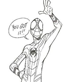 Thanks Spidey Spiderman Poses, Spiderman Kunst, Spiderman Drawing, Character Poses, Comic Character, Character Design, Marvel Fan Art, Marvel Dc Comics, Art Reference Poses