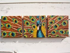 Peacock art for the wall
