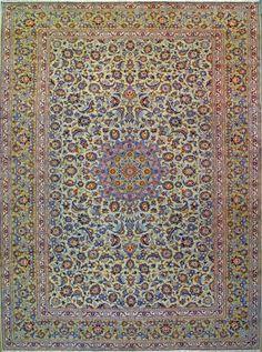 """Kashan Persian Rug, Buy Handmade Kashan Persian Rug 10' 3"""" x 13' 5"""", Authentic Persian Rug"""