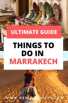 Check out the best places to visit in Marrakech, Morocco. We put together the list of the best things to do in Marrakech including tips to go to the Souks! Ideal to plan your trip to Marrakech with ease! Marrakech Travel, Marrakech Morocco, Morocco Travel, Africa Travel, Best Travel Guides, Travel Tips, Cool Places To Visit, Places To Travel, Stuff To Do