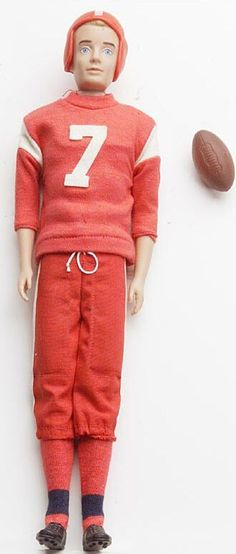 'Touchdown Ken, 1960's' -- Haha, looks like Ken got tackled one too many times ;)