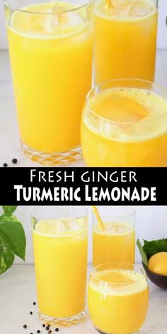 Fresh ginger turmeric lemonade recipe made whole foods: fresh ginger and turmeri. - Fresh ginger turmeric lemonade recipe made whole foods: fresh ginger and turmeric root and a touch o - Healthy Juice Recipes, Detox Recipes, Healthy Drinks, Whole Food Recipes, Diet Drinks, Drink Recipes, Fresh Tumeric Recipes, Coconut Water Recipes, Kefir Recipes