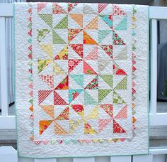 How much fabric would you need to make this in a queen size? Custom Marmalade Pinwheel Quilt from LASO Quilts on Etsy