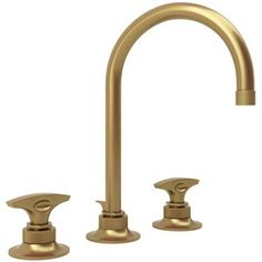 Butler's Pantry Bar Sink Faucet -   RMB2019DMFB2 Graceline 8'' Widespread Bathroom Faucet - French Brass