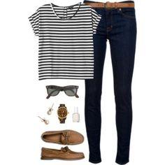 stripes + sperrys