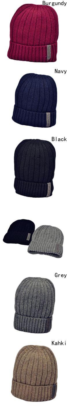 ced16b15bf355 Wool Beanies Knit Men s Winter Hat Caps Bonnet Winter Hats For Men Women  Beanie Warm Baggy