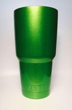 YETI 30 oz. Rambler in Sparkle Green Powder Coat.