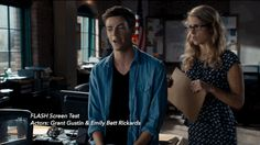 But to ensure Gustin had chemistry with Rickards, the two filmed a screen test before he landed the job, footage you can see on the upcoming The Flash Season 1 Blu-ray and DVD.   Watch Grant Gustin's Never-Before-Seen Chemistry Test With Emily Bett Rickards