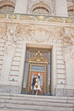 San Francisco courthouse elopement. Alicia Gines Photo.