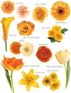 Orange flowers jeh-s-wedding