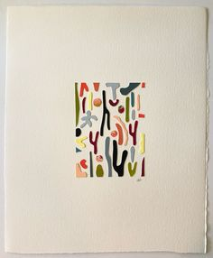 Large Papercut Collage I Abstract Words, Abstract Flowers, Abstract Art, Painting Inspiration, Art Inspo, Plaster Art, Graphic Design Print, Color Pencil Art, Calendar Design