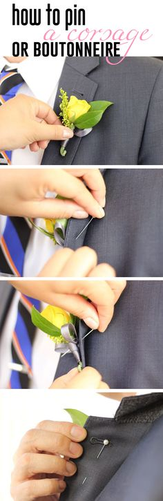 How to pin a corsage or boutonniere for her or him! http://www.ehow.com/how_10182_pin-corsage-boutonniere.html?utm_source=pinterest.com&utm_medium=referral&utm_content=inline&utm_campaign=fanpage