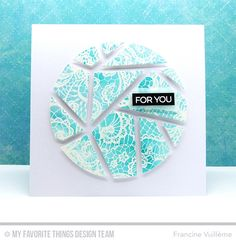 Abstract Cover-Up Die-namics, Count the Stars, Lace Background, Circle STAX Set 1 Die-namics - Francine Vuilleme #mftstamps