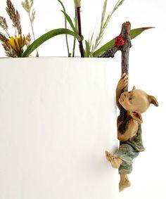 Love this Garden Pixie Flower Pot Hugger Figurine on #zulily! #zulilyfinds