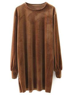 Velvet Long Sleeve Casual Dress