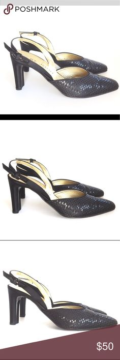 "2305efc308970 Spotted while shopping on Poshmark  ST JOHN 9 B SHOES SATIN 3.5"" HEEL SLING"