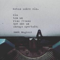 """Dose dupla.  #zackmagiezi  #notassobreela"""
