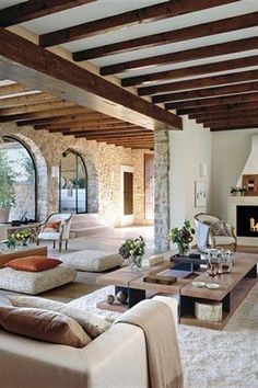"""""""View this Great Mediterranean Great Room with Cement fireplace & Hardwood floors. Discover & browse thousands of other home design ideas on Zillow Digs."""""""