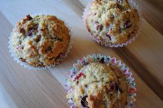cranberry coconut muffins by lovely little details