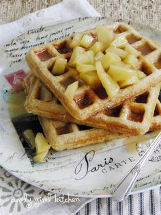 Spiced Buttermilk Waffles with Apple Cider Compote