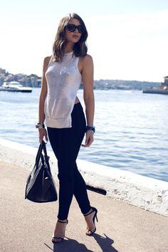 "what-do-i-wear  ""Sportmax knit J Brand jeans Silver vintage cuff with  Michael Kors watch Chelsea De Luca cuff Tony Bianco heels Nick Campbell  sunglasses ... 58d557aa8"