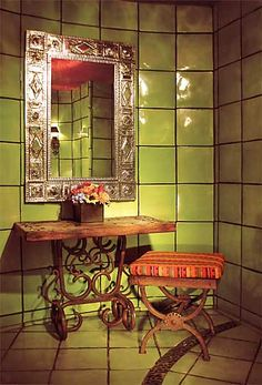 Mexican restaurant design on pinterest mexican for Mexican themed bathroom ideas