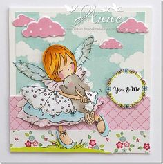 LOTV - Lily Fairy with Love and Wishes Circular Sentiments by Anne Alphabet Stamps, Enjoy Your Weekend, Lily Of The Valley, Cute Cards, Happy New Year, I Card, Etsy Store, You And I, Cardmaking