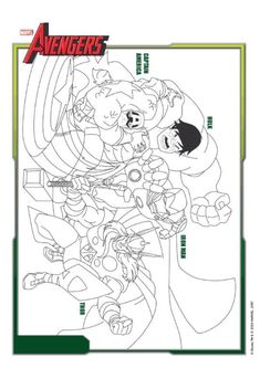 Avengers Age Of Ultron Coloring Pages AvengersEvent