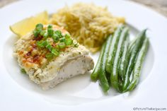 Baked Fish with Dill Sour Cream Topping | Picture the Recipe