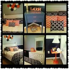 navy blue orange and gray bedroom decor maybe one navy wall and three light blue walls substitute coral for orange