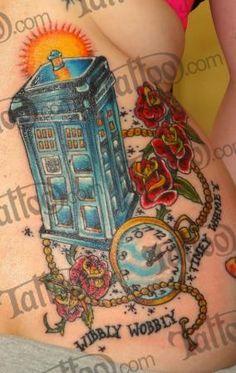 Dr who tattoo wobbly wobbly timey wimey tardis