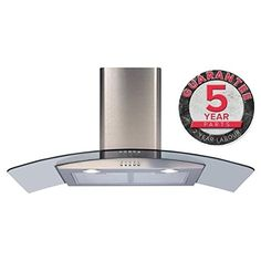 CDA ECP92SS 90cm Curved Glass Cooker Hood Extractor in Stainless Steel 5003 ph 58Db£200