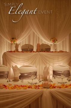 backdrop table wedding headtable decor and backdrop