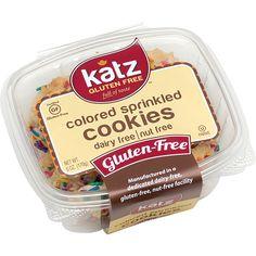 Katz Gluten-free Colored Sprinkle Cookies