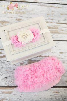 Pink Chiffon Ruffle Petti Bloomer Diaper Cover and Lace Headband Set Ruffle Bloomers, Chiffon Ruffle, Baby Girl Items, My Baby Girl, Ruffle Diaper Covers, Kids Tutu, Baby Mine, Girly Things, Girly Stuff