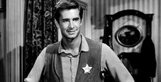 """Anthony Perkins, """"The Tin Star"""" Anthony Perkins, Hollywood Actor, Old Hollywood, Movie Photo, Movie Tv, Ali Macgraw, Norman Bates, Growing Old Together, Star Wars"""