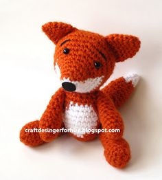 Crochet Amigurumi Design Eve Leder, Craft Designer : Free Crochet Amigurumi Fox Pattern - Red Fox Crochet Pattern—This post includes the free step by step instructions for crocheting this adorable amigurumi red fox . Amigurumi Fox, Crochet Patterns Amigurumi, Crochet Dolls, Crochet Fox Pattern Free, Crocheted Toys, Easy Crochet Projects, Diy Crochet, Crochet Crafts, Crochet Animal Patterns