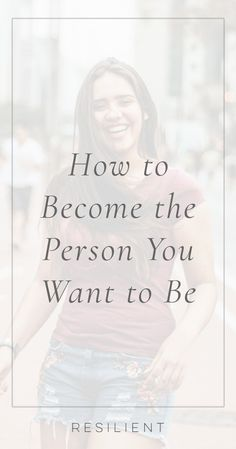 If you know the type of person you'd like to be and you're not there yet, reaching that transformation all comes down to asking yourself one question when you make any choice in life. Here's how to become the person you want to be and change your life. Self Development, Personal Development, Kind Person, Self Improvement Tips, Life Purpose, Finding Purpose, Inspirational Videos, Learn To Love, Life Advice