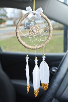 Excited to share this item from my shop: Diamond Mandala Car Dream Catcher: Dream Catcher for Car, Gold Car Mirror Accessories, Road Trip Gift, Bling Dream Catcher For Car, Dream Catchers, Los Dreamcatchers, Stocking Stuffers For Women, Girly Car, Car Accessories For Girls, Cute Cars, Diy For Girls, Crochet Gifts