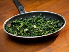 Garlic Sauteed Spinach : Recipes : Cooking Channel