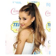 Breaking Free of the Ponytail! See Ariana Grande's Laid Back Hairstyle ❤ liked on Polyvore featuring hair