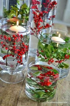Hollies and red berries – beautiful winter DIY wedding center piece. – Washington Wedding Venues Guide Hollies and red berries – beautiful winter DIY wedding center piece. Hollies and red berries – beautiful winter DIY wedding center piece. All Things Christmas, Christmas Holidays, Christmas Crafts, Christmas Ideas, Christmas Tree, Christmas Vases, Christmas Party Favors, Holiday Ideas, Christmas Dinner Ideas Decoration