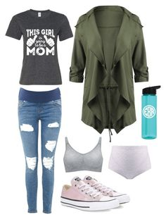 Autmn mama by havelinka on Polyvore featuring Topshop, Bravado and Converse
