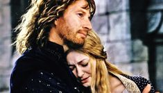 """'Do not scorn pity that is the gift of a gentle heart, Eowyn! But I do not offer you my pity. For you are a lady high and valiant and have yourself won renown that shall not be forgotten; and you are a lady beautiful, I deem, beyond even the words of the Elven-tongue to tell. And I love you. Once I pitied your sorrow. But now, were you sorrowless, without fear or any lack, were you the blissful Queen of Gondor, still I would love you."""""""