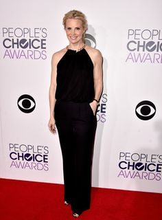 monica potter in diane von furstenberg at the 2015 people's choice awards. #peopleschoice
