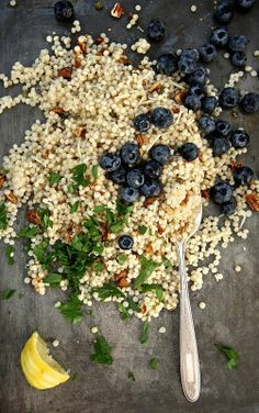 Toasted Pecan and Fresh Blueberry Couscous Salad