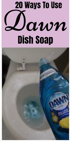 Dawn dish soap household and cleaning tips, tricks, and hacks. Tips Tricks 20 Ways To Use Dawn Dish Soap Bathroom Cleaning Hacks, Household Cleaning Tips, Homemade Cleaning Products, Cleaning Recipes, House Cleaning Tips, Natural Cleaning Products, Spring Cleaning, Cleaning Sink Drains, Cleaning Pans